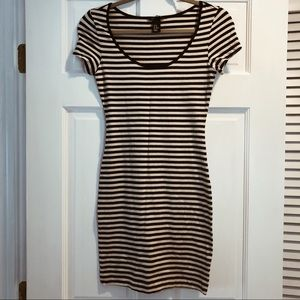 NWOT H&M Short-Sleeve Striped T-Shirt Dress